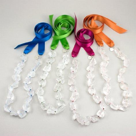 Rock Candy Ribbon Necklace by Cynthia Rybakoff, US $45