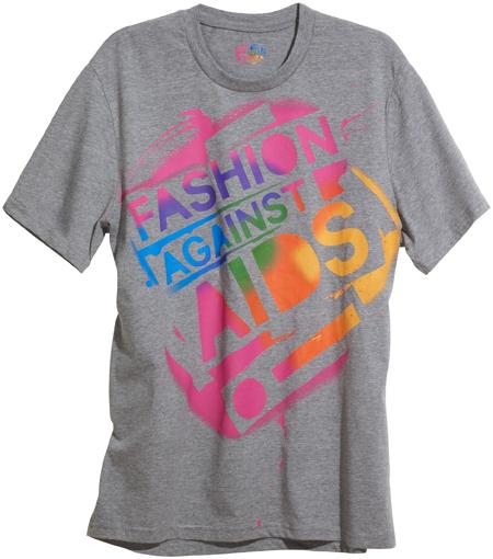 Fashion Against AIDS logo t-shirt, $19.90