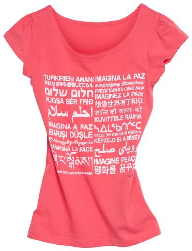 T-shirt by Yoko Ono, $