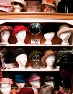 Hats at Meow, from FashionMagazine.com