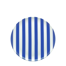 Sag Harbour stripe dinner plate, $19
