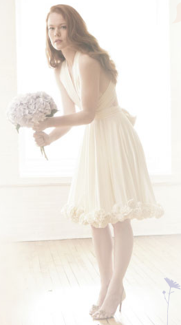 The Rosette wrap dress by TwoBirds Bridesmaid, $370