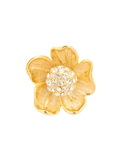 Gold tone Flower ring, $30 at Guess