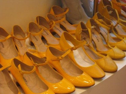 Bright Yellow at Galleries Lafayettes