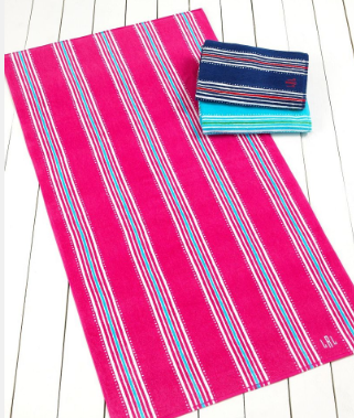 Ralph Lauren Batik Stripe beach towel, $17.99 on sale at Macy's