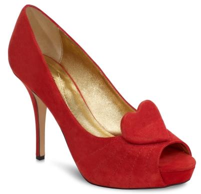 Genny peep-toe shoe, $325