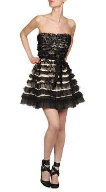 Silk party dress, $2.295