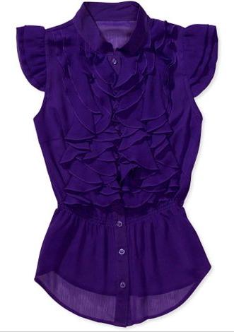 Miley & Max chiffon blouse, $12