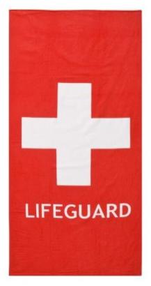 Lifeguard beach towel, $14.99 at Target