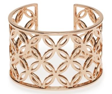 Deco lace bangle, $140