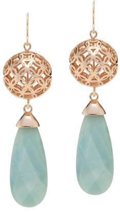Deco Lace drop earrings, $100