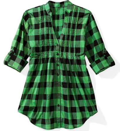 Plaid tunic, $12