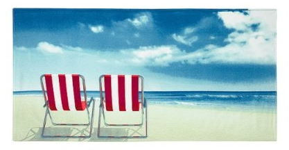 Who can resist? The Beach Chairs beach towel, $14.99 at Target
