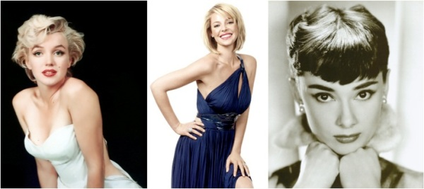 Marilyn Monroe, Katherine Heigl, and Audrey Hepburn are quintessential Old Hollywood glam