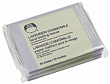 Lavender Chamomile Facial Blotting Tissues, $10Cdn