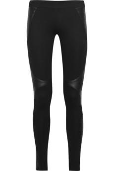 Helmut Lang leather insert legging, $300
