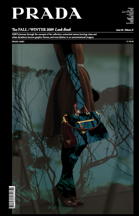 The Prada Lookbook for fall 2009: art meets fashion