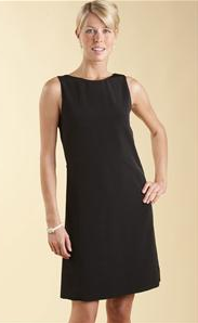 The Bow Back Basically Black dress by Helene Berman, $