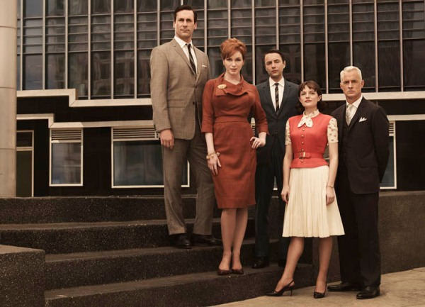 Mad Men's stellar cast: (from left) Don Draper, Joan Holloway, Pete Campbell, Peggy Olson, Roger Sterling