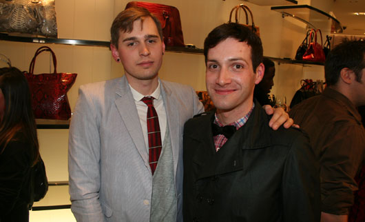 Andrew Sardone & Philip Sparks at Holt Renfrew Fashion week party, torontostreetfashion.com