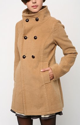 BDG Funnel Neck Peacoat, $128 at Urban Outfitters