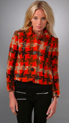 Marc by Marc Jacobs Houndstooth jacket, $458 at ShopBop
