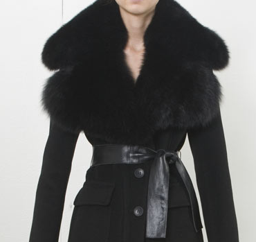 Rudsak fur-trimmed wool coat