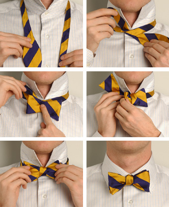 How to tie a bow tie, black-neckties.com