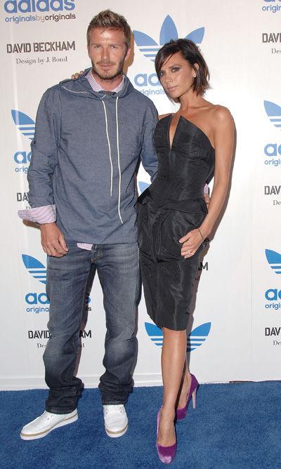 Victoria Beckham wears Brian Atwood pumps with a William Tempest dress