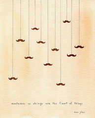 shopmarc johnsDOTcom_mustaches on string_signed print_$20USD