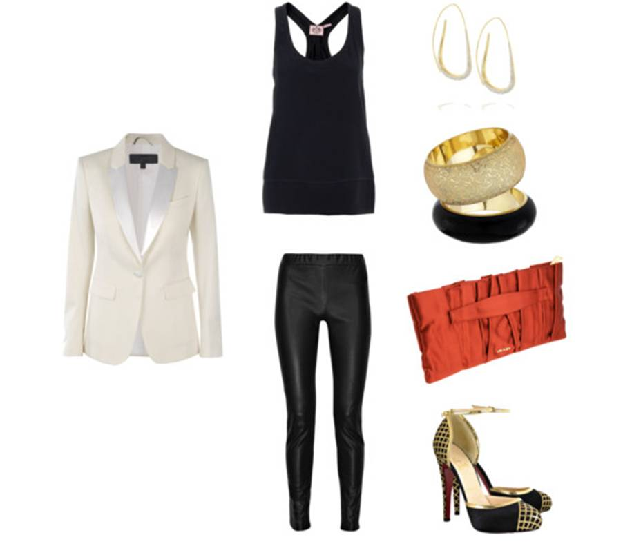 Burberry blazer, Juicy Couture top, Valentino pants, Christian Louboutin ...