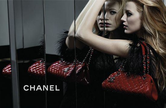 blake lively chanel mademoiselle handbags. Blake Lively is photographed
