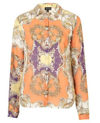 scarf print shirt, £38.00, TopShop