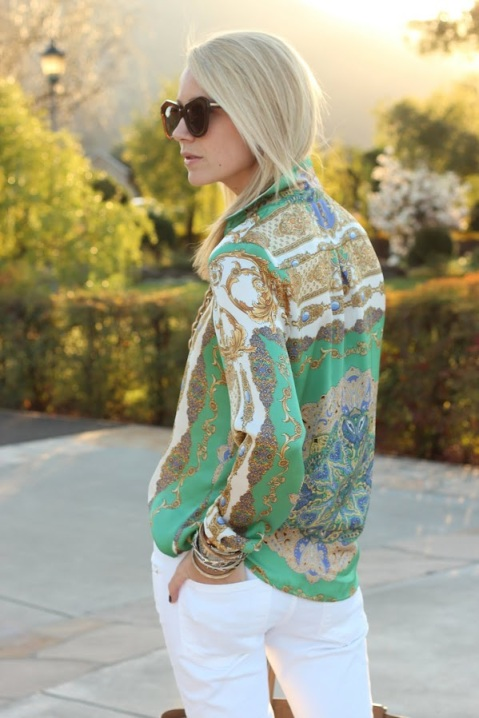 Spring trend: Scarf shirt, Atlantic-Pacific