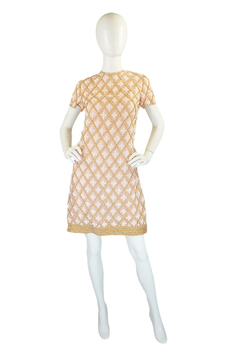 1960's Near-nude beaded mod dress, $250 at Shrimpton Couture