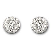 Button Ball Pave Clip Earrings, $100