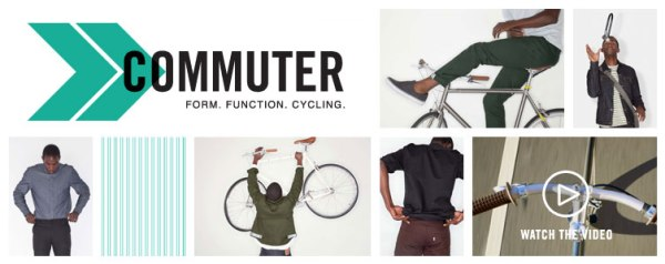 Levi's has been designing a special commuter line tricked out with urban cycling details