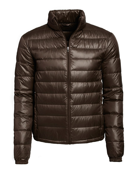 The men's down-filled city vest is ultra lightweight and can slip underneath a leather jacket or overcoat for extra core heat. $99 at Danier