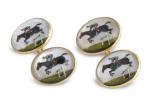 Foundwell 18 Karat gold and essex crystal jockeycufflinks_$6525