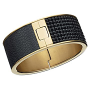 Intervalle Wide Galuchat Pattern Bangle, $250