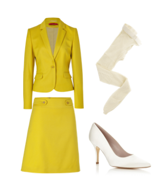 Yellow & white - Inspired by Audrey Hepburn in How to Steal a Million