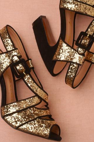 bright flight heels, $160, BHLDN