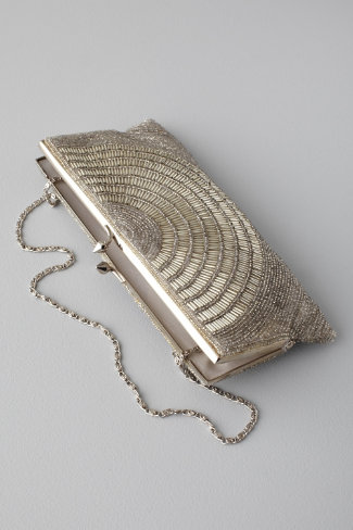 deco beaded clutch, $180, BHLDN