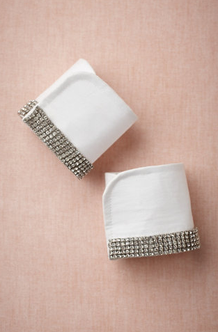 diamante cuffs, $120, BHLDN