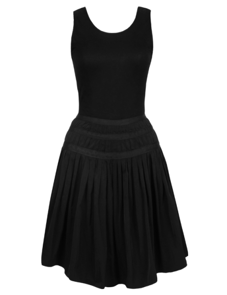 dress in jersey and technical taffeta, €280, Repetto