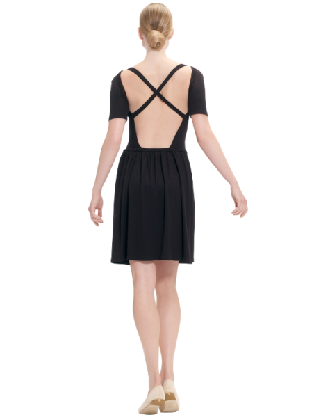 dress with crossed bare back, €280, Repetto