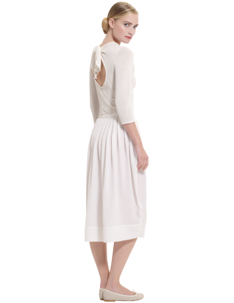 dress with open back, €420, Repetto