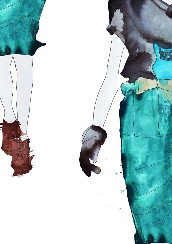 fashion Illustration_Helen Simms_Etsy