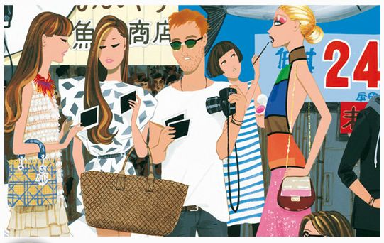 fashion illustration, by Jordi Labanda