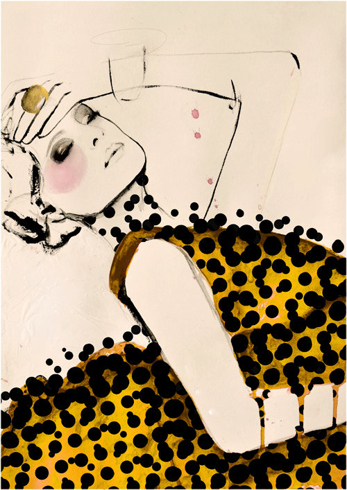 fashion illustration, $28, by Leigh Viner